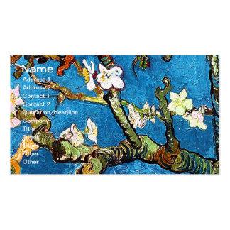 Van Gogh Blossoming Almond Tree (F671) Fine Art Business Card Templates