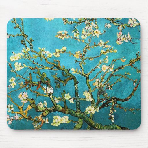 Van Gogh Blossoming Almond Tree (F671) Fine Art Mouse Pads