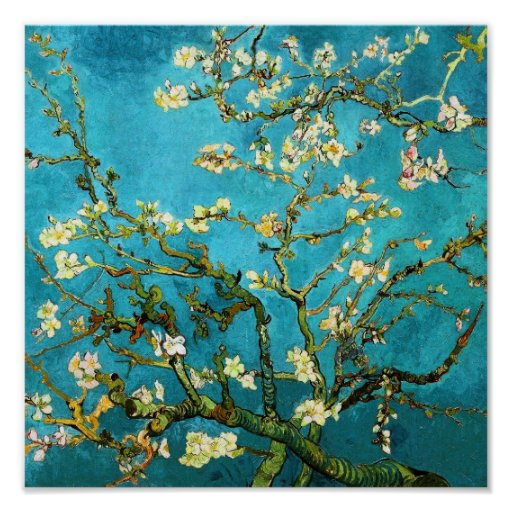 Van Gogh Blossoming Almond Tree (F671) Fine Art Posters
