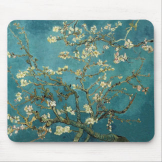 Van Gogh Blossoming Almond Tree Mouse Pad