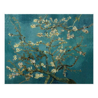 Van Gogh Blossoming Almond Tree Vintage Fine Art Poster