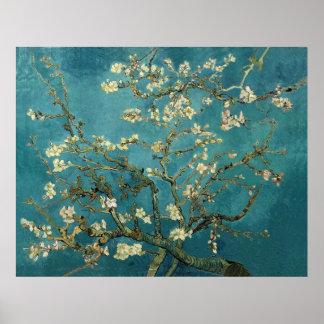 Van Gogh Blossoming Almond Tree Vintage Fine Art Poster