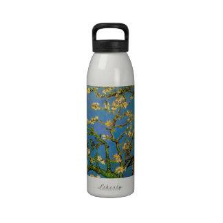 Van Gogh; Blossoming Almond Tree, Vintage Flowers Water Bottles