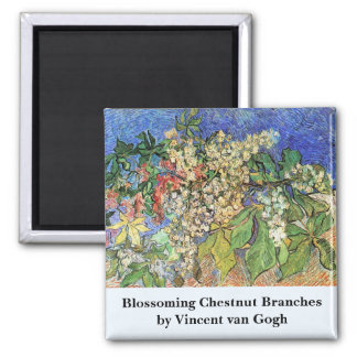 Van Gogh; Blossoming Chestnut Branches Magnets