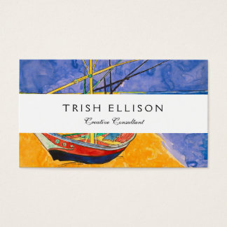 Van Gogh Boats on the Beach of Saintes-Maries Business Card