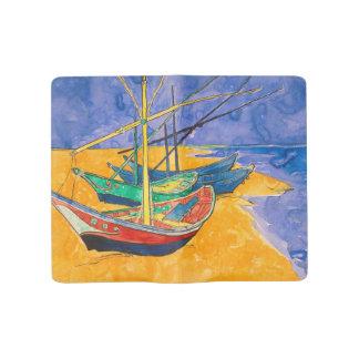 Van Gogh Boats on the Beach of Saintes-Maries Large Moleskine Notebook