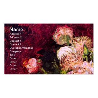 Van Gogh Bowl Peonies & Roses (F249) Fine Art Pack Of Standard Business Cards