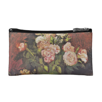 Van Gogh Bowl with Peonies and Roses GalleryHD Makeup Bags