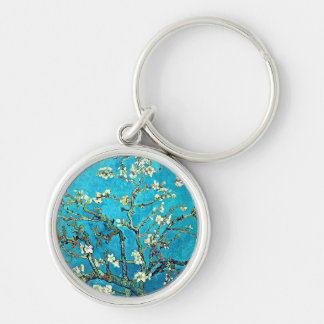 Van Gogh: Branches with Almond Blossoms Key Ring