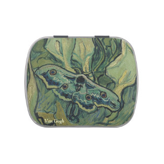 Van Gogh butterfly Emperor moth Jelly Belly Candy Tins