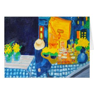 Van Gogh Cafe Card