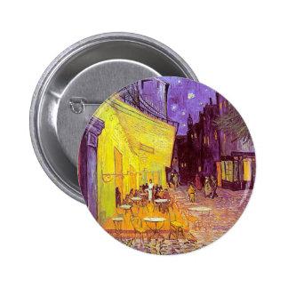 Van Gogh Cafe Impressionist Painting 6 Cm Round Badge
