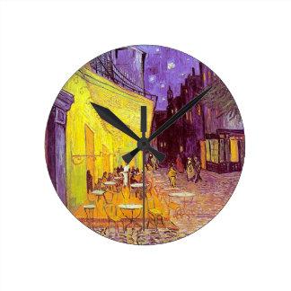 Van Gogh Cafe Impressionist Painting Wall Clock