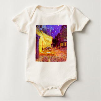 Van Gogh Cafe Terrace at Night Baby Bodysuit