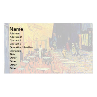 Van Gogh - Cafe Terrace At Night Business Card