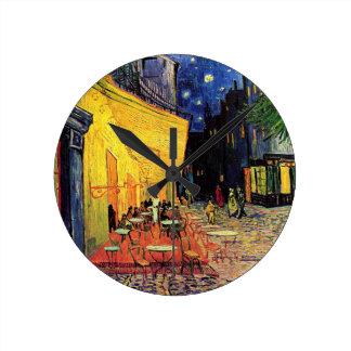 Van Gogh Cafe Terrace At Night Clocks