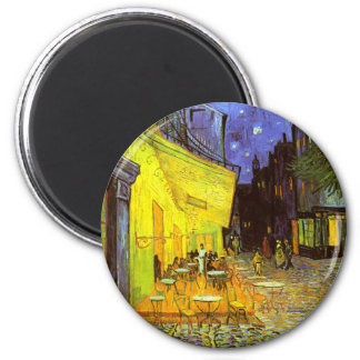 Van Gogh: Cafe Terrace at Night 6 Cm Round Magnet