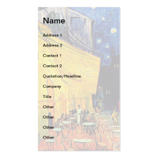 Van Gogh - Cafe Terrace At Night Pack Of Standard Business Cards
