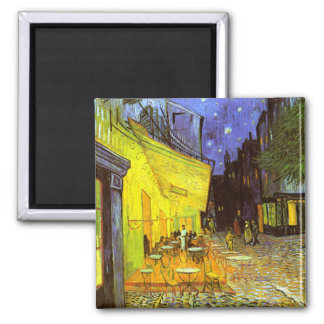 Van Gogh: Cafe Terrace at Night Square Magnet