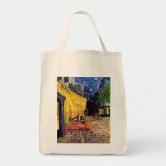 Van Gogh; Cafe Terrace at Night, Vintage Fine Art Canvas Bag