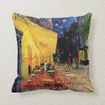 Van Gogh; Cafe Terrace at Night, Vintage Fine Art Throw Pillow