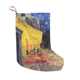 Van Gogh, Cafe Terrace at Night, Vintage Fine Art Small Christmas Stocking