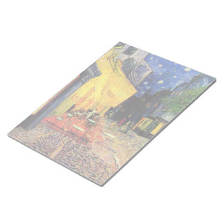 Van Gogh, Cafe Terrace at Night, Vintage Fine Art Note Pads