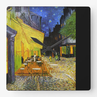 "Van Gogh, ""Cafe Terrace at Night"" Wallclocks"