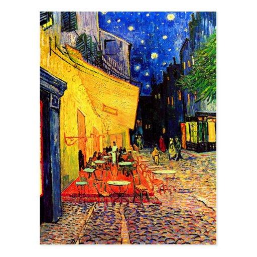 Van Gogh Cafe Terrace (F467) Vintage Fine Art Postcards