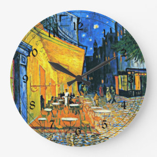Van Gogh: Cafe Terrace Large Clock