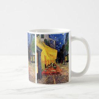Van Gogh Cafe Terrace on Place du Forum, Fine Art Basic White Mug