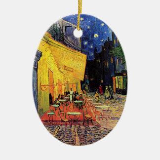 Van Gogh Cafe Terrace on Place du Forum, Fine Art Ceramic Ornament