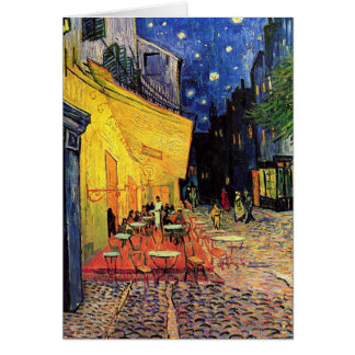 Van Gogh Cafe Terrace on Place du Forum, Fine Art Greeting Card