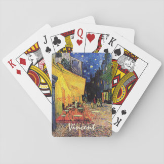 Van Gogh Cafe Terrace on Place du Forum, Fine Art Playing Cards