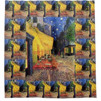 Van Gogh Cafe Terrace on Place du Forum, Fine Art Shower Curtain