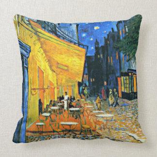 Van Gogh - Cafe Terrace, Van Gogh famous painting Throw Pillow