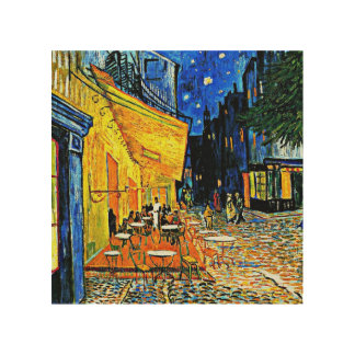 Van Gogh - Cafe Terrace Wood Canvas