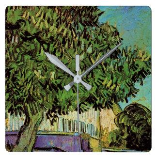 Van Gogh Chestnut Tree in Blossom Vintage Fine Art Wall Clock