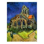 Van Gogh Church at Auvers (F789) Fine Art Postcards