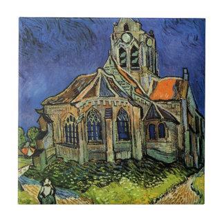 Van Gogh Church at Auvers, Vintage Impressionism Ceramic Tiles