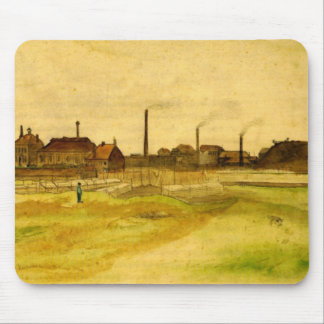 Van Gogh Coalmine in the Borinage, Fine Art Mouse Pad