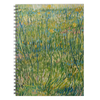 van gogh colorful grass notebooks