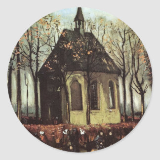 Van Gogh Congregation Leaving the Reformed Church Round Sticker
