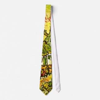 Van Gogh - Cottages Cypresses Fine Vintage Tie
