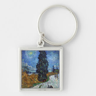 Van Gogh- Country Road in Provence by Night Key Ring