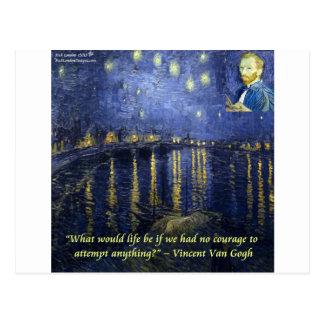 Van Gogh Courage Quote Postcard