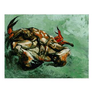 Van Gogh Crab on Its Back F605 Fine Art Postcards