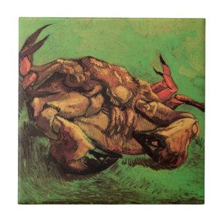 Van Gogh Crab on Its Back, Vintage Still Life Art Ceramic Tile