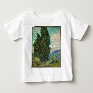 Van Gogh Cypresses Baby T-Shirt