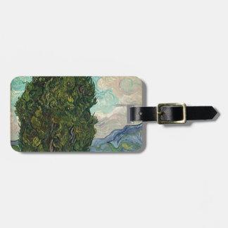 Van Gogh Cypresses Luggage Tag